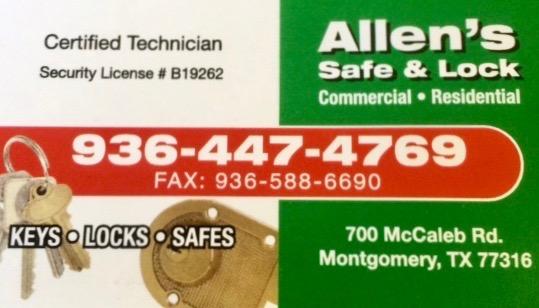 Emergency Locksmith, Emergency Locksmith in Montgomery TX, 24 Hr Emergency Locksmith