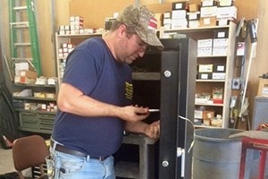 Safe opened and being serviced by us, a Safe Locksmith in Montgomery TX