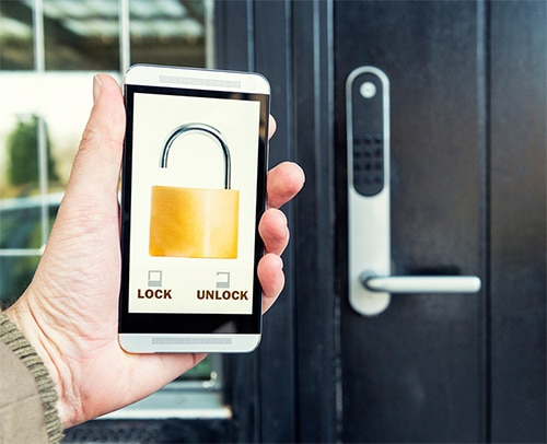 smart lock controlled with a smart phone